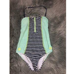 Sperry Striped one piece bathing suit !